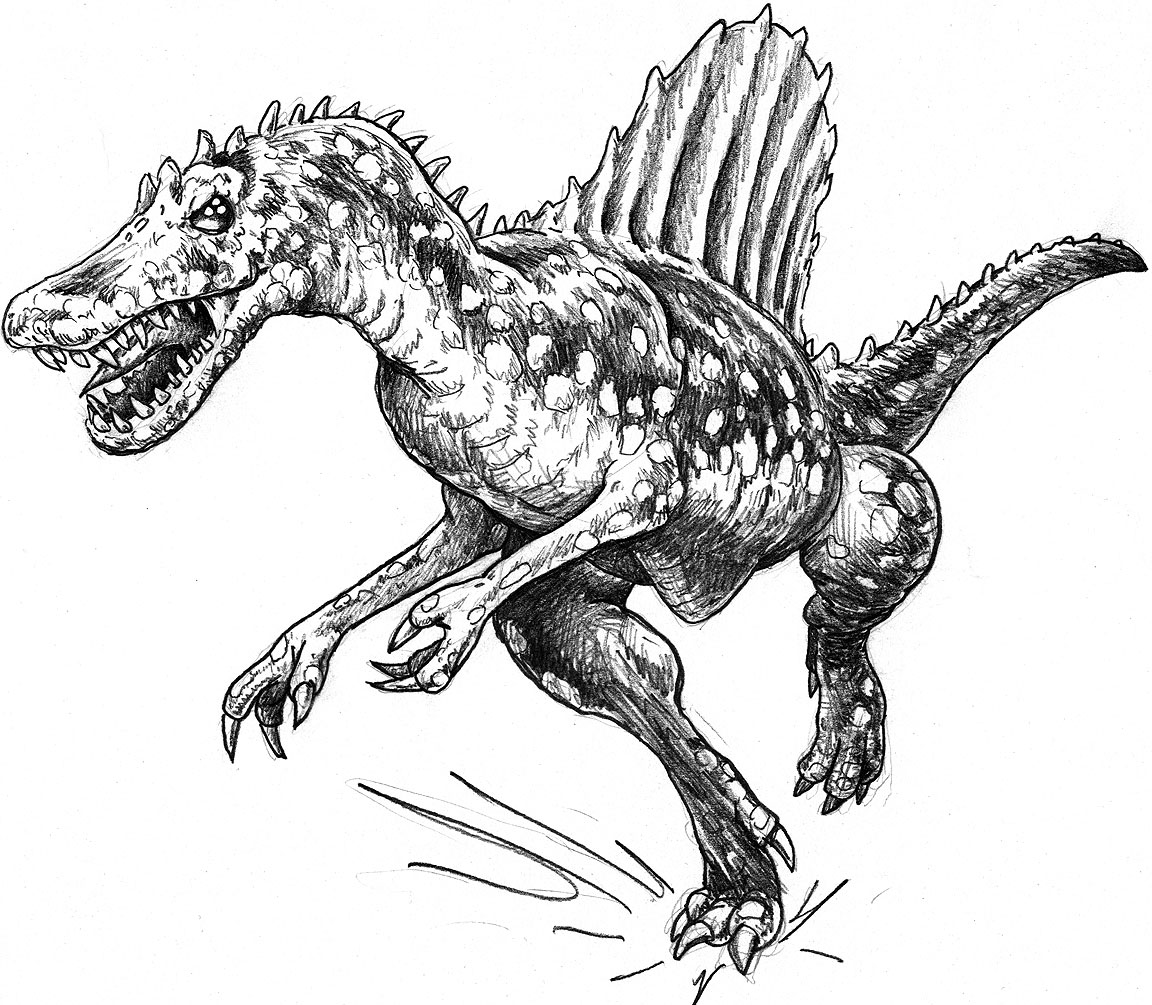 Free Coloring Pages Of Trex Vs Spinosaurus